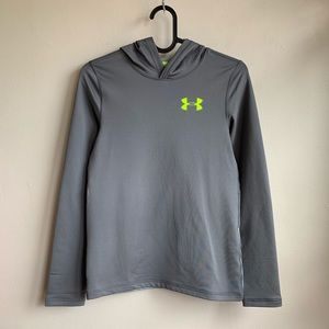 Under Armour Coldwear gray hooded shirt NWOT